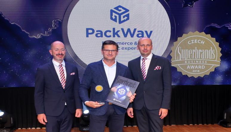 Spoločnosť PackWay prevzala cenu Czech Superbrands Awards 2018